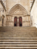 The Sarmental Door of Burgos Cathedral Stock Photo