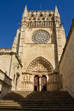 Sarmental Facade of Burgos Gothic Cathedral. Spain Stock Photography