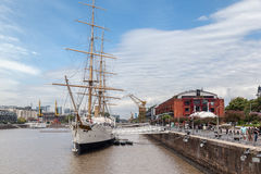 Sarmiento Frigate Puerto Madero Royalty Free Stock Image