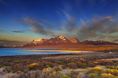 Sarmiento sjö, Torres del Paine Arkivbild