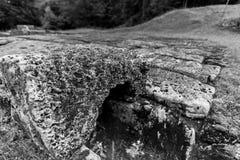Sarmisegetusaregia, Oude ruïnes in Transilvania, Orastie-Bergen, Roemenië stock foto's