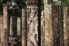 Sarmisegetuza Regia圆的寺庙废墟 免版税库存图片