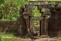 Sarmisegetuza Regia圆的寺庙废墟 库存图片