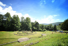 Sarmizegetusa Regia. Sarmizegetusa was the strategical centre of the dacian defensive system in Orastiei Mountains. The fortress included a sacred area and Royalty Free Stock Photography