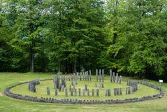 Sarmizegetusa Regia - ruínas de Dacian do templo circular Fotografia de Stock