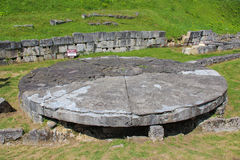 "Sarmizegetusa Regia Ruins - The ""Andesite Sun Royalty Free Stock Images"