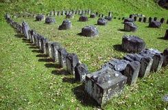 Sarmizegetusa Regia Sanctuary. Situated at 1200m altitude, Sarmizegetusa was the strategical centre of the dacian defensive system in Orastiei Mountains. The stock photos