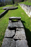 Sarmizegetusa Regia Sanctuary. Situated at 1200m altitude, Sarmizegetusa was the strategical centre of the dacian defensive system in Orastiei Mountains. The stock images