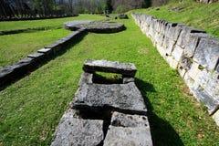 Sarmizegetusa Regia Sanctuary. Situated at 1200m altitude, Sarmizegetusa was the strategical centre of the dacian defensive system in Orastiei Mountains. The royalty free stock photos