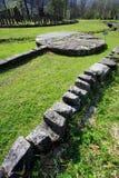 Sarmizegetusa Regia Sanctuary. Situated at 1200m altitude, Sarmizegetusa was the strategical centre of the dacian defensive system in Orastiei Mountains. The royalty free stock photo