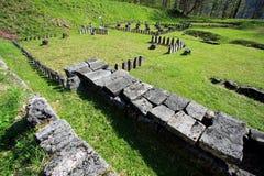 Sarmizegetusa Regia Sanctuary. Situated at 1200m altitude, Sarmizegetusa was the strategical centre of the dacian defensive system in Orastiei Mountains. The stock photography