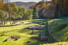 Sarmizegetusa Regia - santuario antico 5 di legno e della roccia Fotografia Stock Libera da Diritti