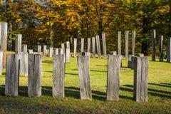 Sarmizegetusa Regia - santuario antico 9 di legno e della roccia Fotografie Stock