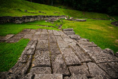 Sarmizegetusa Regia. (situated at 1200m altitude, it was the strategical centre of the dacian defensive system in Orastiei Mountains royalty free stock photo