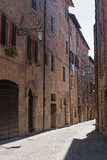 Sarnano (Macerata, Märze, Italien) Lizenzfreie Stockbilder