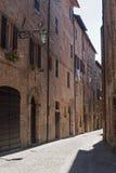Sarnano (Macerata, Marches, Italy). Old street royalty free stock images