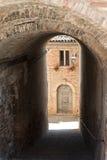 Sarnano (Macerata, Marches, Italy). Old village royalty free stock photos
