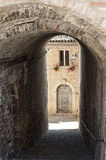 Sarnano (Macerata, Marches, Italy) - Old village Royalty Free Stock Image