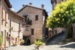 Sarnano (Macerata, Marches, Italy) - Old village Stock Photos