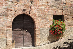 Sarnano (Macerata, Marches, Italy) - Old village Royalty Free Stock Photos