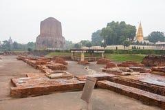 SARNATH INDIEN Arkivfoto