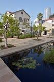 Sarona露天商业中心在特拉维夫-以色列 库存照片