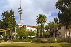 Sarona - altes Viertel in Tel Aviv, gegründet durch Templers im 19. Jahrhundert lizenzfreie stockfotografie