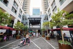 Sarona market in Tel Aviv Stock Photography