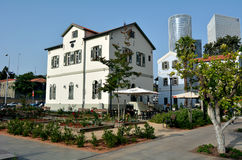 Sarona open air commercial center in Tel Aviv - Israel Stock Photos