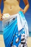 In sarong Fotografie Stock