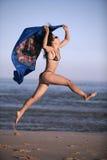 Sarong bleu Photo libre de droits