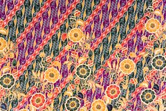 Sarong indonesiano del batik Fotografia Stock