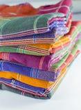 Saronggewebe für Musterhintergrund Lizenzfreies Stockfoto