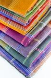 Saronggewebe für Musterhintergrund Stockfoto