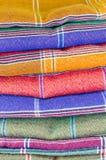 Saronggewebe für Musterhintergrund Stockbild