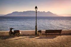 Saronic-Golf gesehen von Aegina-Insel Stockbild