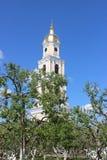Sarov六翼天使在三位一体六翼天使Diveevo修道院里在Diveevo,俄罗斯 库存图片