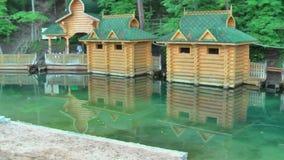 Sarov Seraphim Sacred Source on Satis river bank stock video