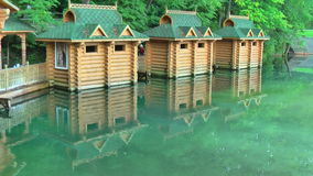 Sarov Seraphim Sacred Source on Satis river bank stock video footage