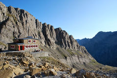 The Sarradets refuge in Gavarnie in France Royalty Free Stock Photo