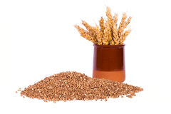 Sarrasin et blé Photo stock