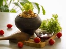 Sarrasin friable avec du beurre, nourriture saine Image libre de droits
