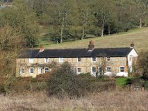 Sarratt Bottom Cottages located in the Chess Valley, Hertfordshire royalty free stock images