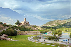 Sarre castle in Aosta Valley, Northern Italy Royalty Free Stock Images