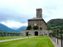 Sarre castle, Italy Stock Photo
