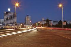 Sarrebruck - ciudad en la hora azul Foto de archivo libre de regalías