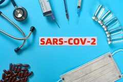 Free SARS COV 2 Surrounded By Medical Things Concept Of Fighting With The SARS COV 2 Stock Image - 174029781
