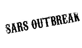 Sars Outbreak rubber stamp Royalty Free Stock Photos