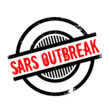 Sars Outbreak rubber stamp. Grunge design with dust scratches. Effects can be easily removed for a clean, crisp look. Color is easily changed Stock Photography