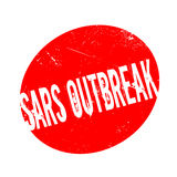 Sars Outbreak rubber stamp. Grunge design with dust scratches. Effects can be easily removed for a clean, crisp look. Color is easily changed Royalty Free Stock Photos
